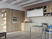 Lacquered laminate kitchen with handles SPRING | Kitchen with handles - DIBIESSE