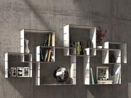 Wall-mounted sectional bookcase KONNEX - Müller Möbelwerkstätten