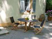 Round HPL garden table TEKURA | Round table - Les jardins