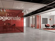 Glass partition wall KRISTAL 10 - Arcadia Componibili - Gruppo Penta