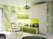 Loft fitted wooden teenage bedroom KS 204 | Bedroom set - Moretti Compact