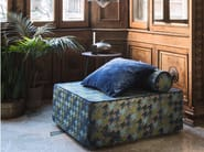 Upholstered fabric pouf bed with removable lining KUBO - Letti&Co.