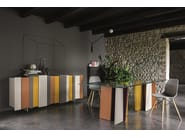 Lacquered wood and glass table STRIPE | Lacquered table - Dall'Agnese