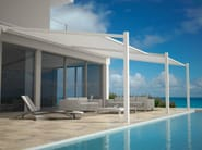 Wall-mounted pergola with sliding cover LAPURE® - RENSON®