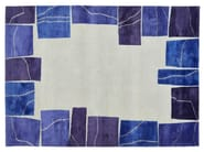 Handmade rectangular wool rug LAPIS - Deirdre Dyson