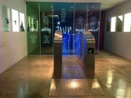 new metro gate with LED IN GLASS