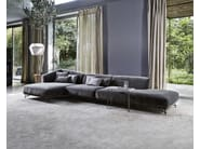 Upholstered fabric sofa with chaise longue LENNOX | Sofa with chaise longue - Ditre Italia