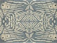 Handmade rectangular rug LEPKE FROST - Deirdre Dyson