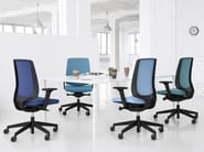 Task chair with 5-Spoke base with armrests LIGHTUP 230SFL - profim