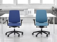 Task chair with 5-Spoke base with armrests LIGHTUP 230STL - profim