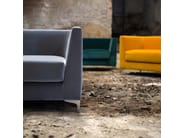 Upholstered guest chair with armrests LINCOLN | Armchair - Domingo Salotti