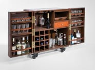 Wooden bar cabinet with casters LODGE - KARE-DESIGN