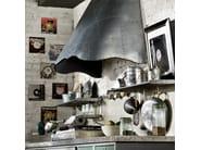 Cucina componibile in acciaio inox LOFT - COMPOSIZIONE 02 - Marchi Cucine