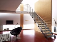 Self supporting straight glass Open staircase LOFT | Glass Open staircase - RINTAL