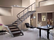 L-shaped self supporting beech Open staircase LOFT | L-shaped Open staircase - RINTAL