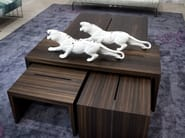 Low wooden coffee table PENSAMI | Low coffee table - ERBA ITALIA