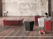 Aluminium coffee table LOW TABLE | Rectangular coffee table - Emmegi