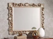 Rectangular wall-mounted framed mirror LUCKY | Mirror - Arvestyle