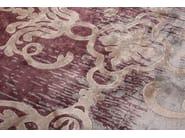 Handmade rectangular custom rug MAGELLAN SHADOW GRENADINE - EDITION BOUGAINVILLE