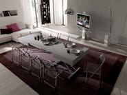Height-adjustable extending coffee table MAGNUM LEGNO | Height-adjustable coffee table - Ozzio Italia