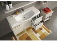 Wall-mounted wooden vanity unit MANHATTAN M15 - LEGNOBAGNO