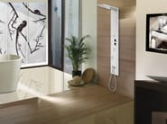 Wall-mounted shower panel with hand shower Manhattan - Panel 4 - Bossini