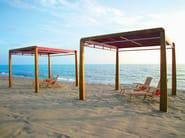 Freestanding motorized laminated wood pergola MAREA | Pergola - ALCE