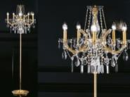 Lampada da terra a luce diretta incandescente in metallo con cristalli MARIA TERESA VE 942 | Lampada da terra - Masiero
