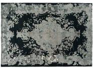 Patterned handmade rectangular rug MARIE ANTOINETTE EMERALD - Golran