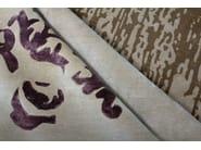 Handmade rectangular custom rug MARQUISE VINTAGE SHADOW PURPLE - EDITION BOUGAINVILLE