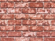 Self adhesive plastic furniture foil with stone effect RED BRICKS - Artesive