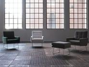 Sled base tufted velvet armchair with armrests MAX   Velvet armchair - SITS