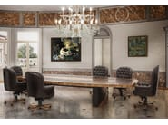 Oval leather meeting table WOLLY - Formitalia Group