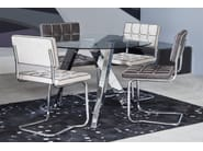 Round glass and steel table MIKADO - KARE-DESIGN