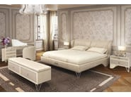 Leather double bed with upholstered headboard MILLA | Bed - Formitalia Group
