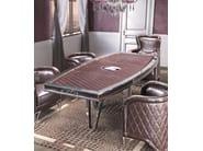 Oval leather living room table MILLA | Oval table - Formitalia Group