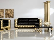Modern pop coloured upholstered padded sofa living room - Minimal Baroque Collection - Modenese Gastone
