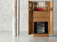 Hardwood laquered walnut abinet with fridge compartment - Minimal Baroque Collection - Modenese Gastone