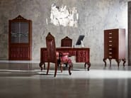 Tailor made office with red leopard skin and laquered hardwood - Minimal Baroque Collection - Modenese Gastone