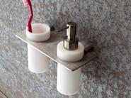 Liquid soap dispenser / bathroom wall shelf MINIMAL | Bathroom wall shelf - Rexa Design
