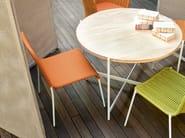 Stackable polyester garden chair MIRA | Chair - Paola Lenti