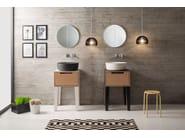 Countertop round ceramic washbasin MIZU | Round washbasin - Scarabeo Ceramiche
