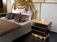 Lacquered rectangular bedside table with drawers MK144   Bedside table - Rozzoni Mobili d'Arte