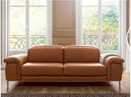Upholstered leather sofa with headrest MODULA | Sofa - GAUTIER FRANCE