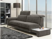 Upholstered fabric sofa with headrest MODULA | Sofa - GAUTIER FRANCE