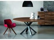 Round oak table MONTANA WILD | Round table - Oliver B.