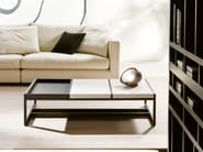 Low coffee table with tray MOSAICO | Lacquered coffee table - Pacini & Cappellini