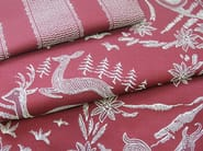 Fire retardant jacquard fabric with graphic pattern MOUNTY BANDE - l'Opificio