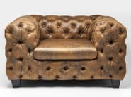 Vintage style tufted leather armchair with armrests MY DESIRE VINTAGE - KARE-DESIGN