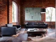 Sled base leather armchair with armrests MYTURN 10V - profim